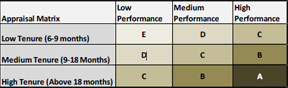 Appraisal Matrix Table